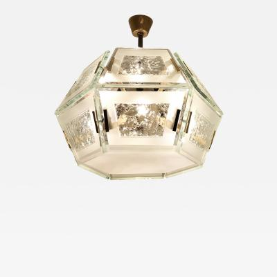 Max Ingrand Fontana Arte Chandelier Model 2362 by Max Ingrand