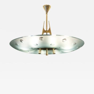 Max Ingrand Fontana Arte Chandelier by Max Ingrand Italy 1955