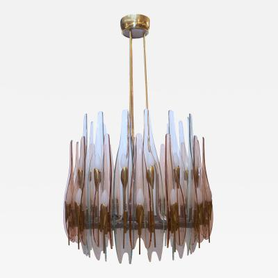 Max Ingrand Fontana Arte Dahlia Chandelier Made in Italy by Max Ingrand