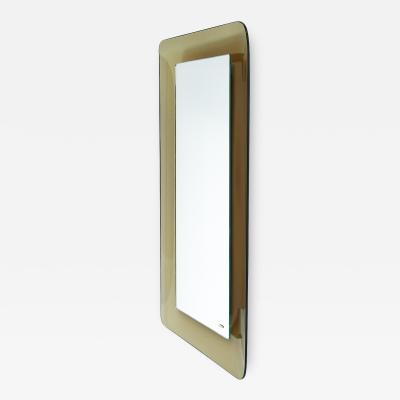 Max Ingrand Fontana Arte Max Ingrand Slender Smoked Glass Mirror
