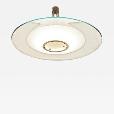 Max Ingrand Large Fontana Arte Ceiling Light by Max Ingrand