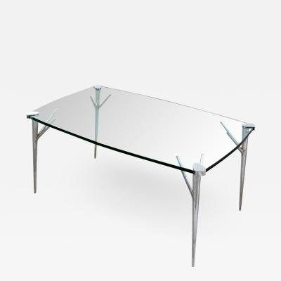 Max Ingrand Max Ingrand Coffee Table for Fontana Arte Brass and Ground Glass
