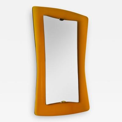 Max Ingrand Max Ingrand Wall Mirror for Fontana Arte in Ground Colored Crystal
