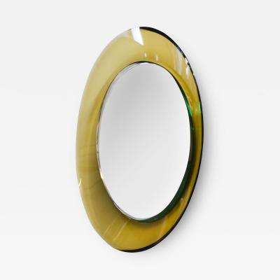 Max Ingrand Max Ingrand for Fontana Arte Circular Wall Mirror in Curved Glass