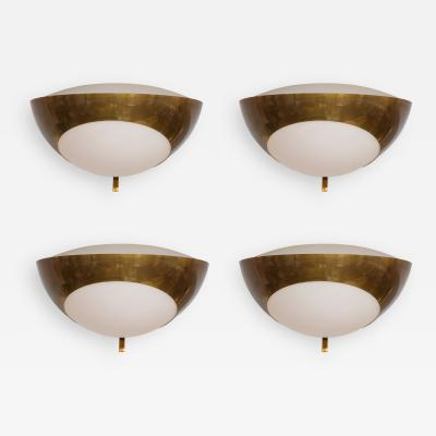 Max Ingrand Max Ingrand for Fontana Arte Set of Four Large Sconces Model 1963