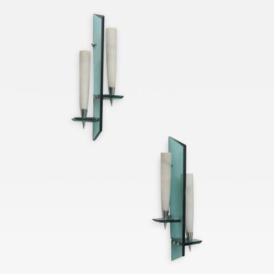Max Ingrand Pair Italian Modern Wall Lights Max Ingrand for Fontana Arte 1950s