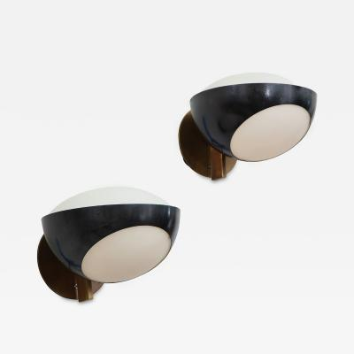 Max Ingrand Pair of 1963 Sconces by Max Ingrand for Fontana Arte