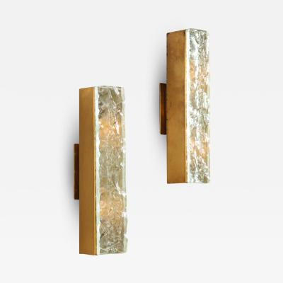 Max Ingrand Pair of 2368 Sconces by Max Ingrand for Fontana Arte