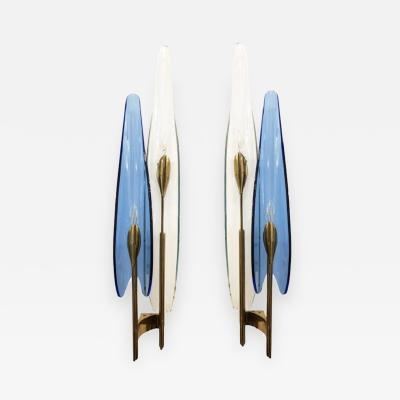 Max Ingrand Pair of Dalia Sconces by Max Ingrand for Fontana Arte