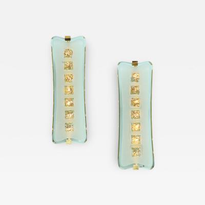 Max Ingrand Pair of Large Scale Sconces 1568 by Max Ingrand for Fontana Arte