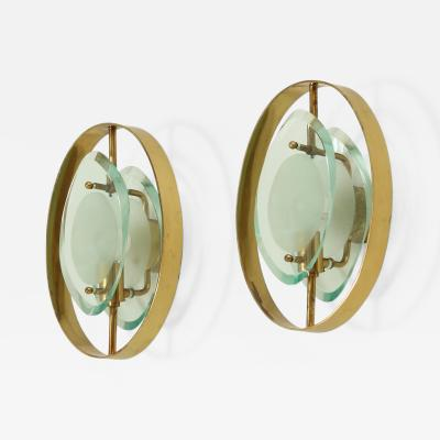 Max Ingrand Pair of Sconces Model 2240 by Max Ingrand for Fontana Arte