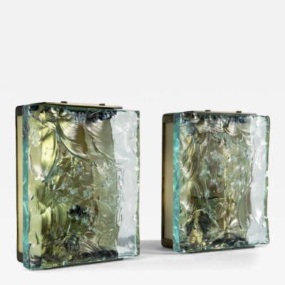 Max Ingrand Pair of Sconces by Max Ingrand 1908 1969 Fontana Arte Italy MIlan 1964