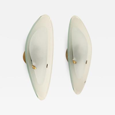 Max Ingrand Pair of Sconces by Max Ingrand for Fontana Arte Italy 1960s
