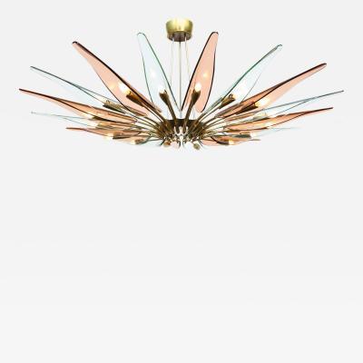 Max Ingrand Rare Dahlia Chandelier by Max Ingrand for Fontana Arte