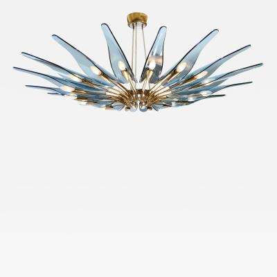 Max Ingrand Rare Dahlia Chandelier by Max Ingrand for Fontana Arte
