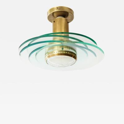 Max Ingrand Rare Flush Mount Fixture by Max Ingrand