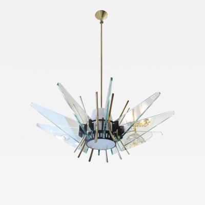 Max Ingrand Rare Fontana Arte Attributed Chandelier Italy 1950s