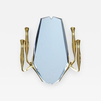 Max Ingrand Rare Illuminated Wall Mirror by Max Ingrand for Fontana Arte