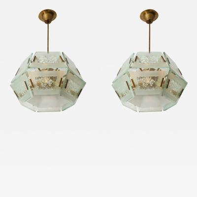 Max Ingrand Rare Pendants 2362 by Max Ingrand for Fontana Arte