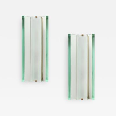 Max Ingrand Rare Sconces Model 2052 by Max Ingrand for Fontana Arte