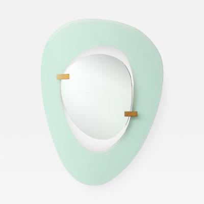 Max Ingrand Rare Wall Mirror by Max Ingrand for Fontana Arte