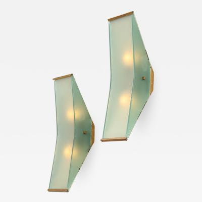 Max Ingrand Rare Wall Sconces 2135 by Max Ingrand for Fontana Arte