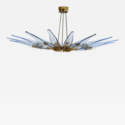 Max Ingrand Rare blue Dahlia chandelier