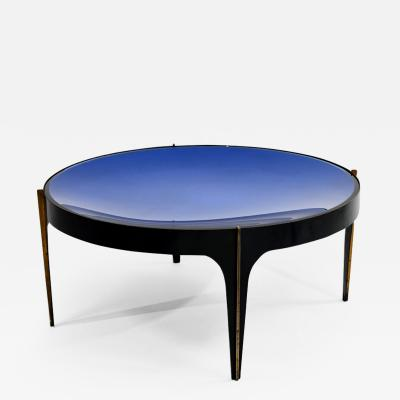 Max Ingrand Rare blue coffee table