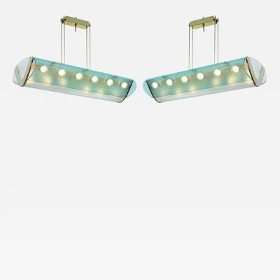 Max Ingrand Rare pair of ceiling lights