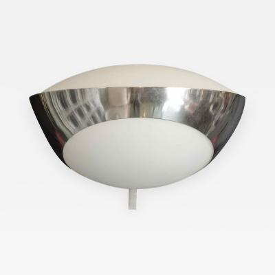 Max Ingrand Wall light in stainless steel and frosted glass by Max Ingrand circa 1963