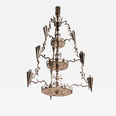 Max Kruger Schwintzer Gr ff silver plated chandelier
