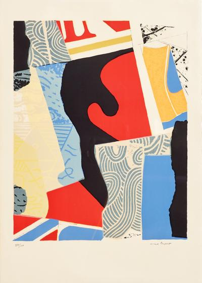 Max Papart Large Lithograph by Max Papart 1911 1994