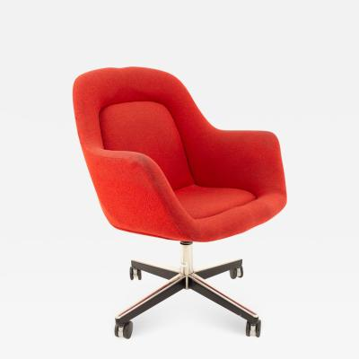Max Pearson Max Pearson for Knoll Mid Century Red Upholstered Office Desk Chair