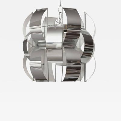 Max Sauze VINTAGE CHROME LIGHTOLIER PENDANT LAMP DESIGNED BY MAX SAUZE
