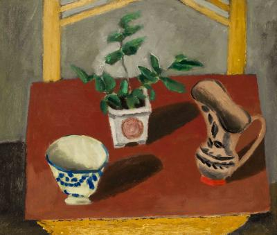 Max Weber Chinese Planter with Green Leaves ca 1907