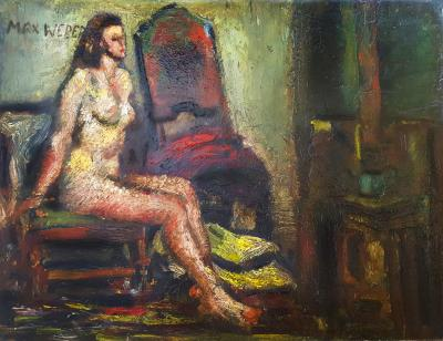 Max Weber Nude on Chair