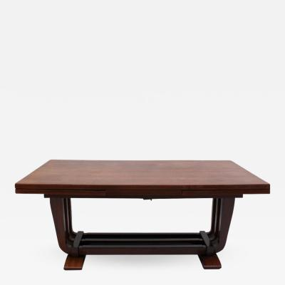 Maxime Old A FINE FRENCH ART DECO ROSEWOOD DINING TABLE BY MAXIME OLD