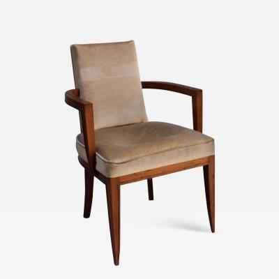 Maxime Old A Fine French Art Deco Rosewood Armchair by Maxime Old