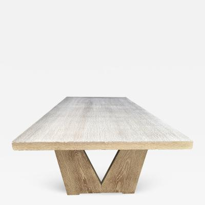 Maxime Old Long Modernist Cerused Oak Coffee Table