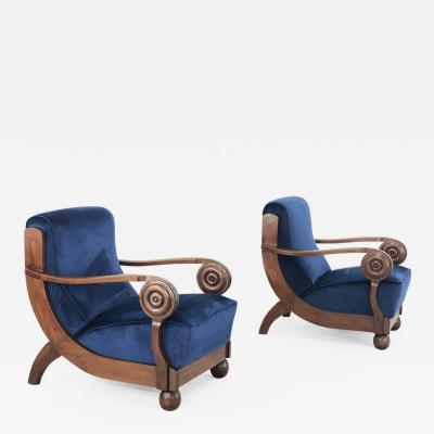 Maxime Old Maxime OLd Exceptional French art deco armchairs