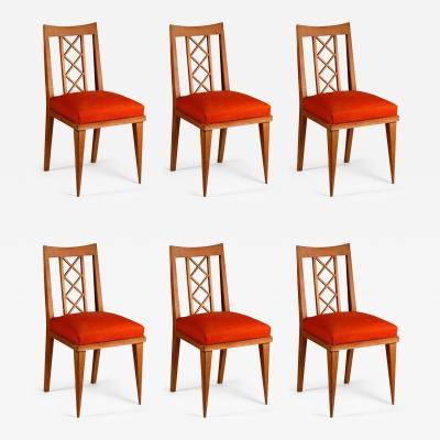 Maxime Old Maxime Old Set of 6 Oak Dining Chairs