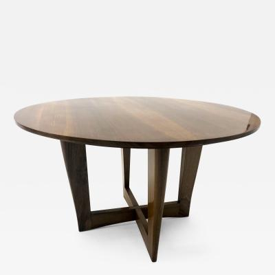 Maxime Old Maxime Old attributed refined walnut round coffee table