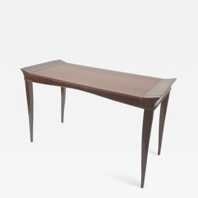 Maxime Old Maxime old exceptional slender mahogany desk with leather top