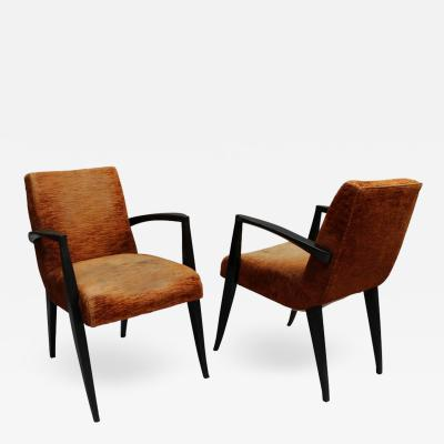 Maxime Old Pair of Fine French Art Deco Armchairs by Maxime Old