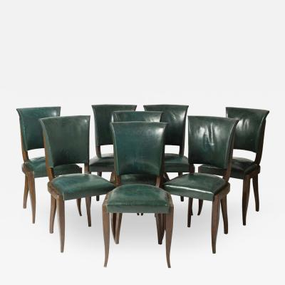 Maxime Old Set of eight chairs in mahogany in the style of Maxime Old