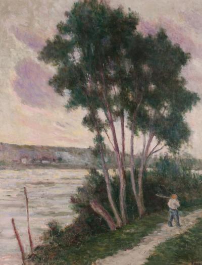 Maximilien Luce Sandrecourt Le Chemin au Bord de la Riviere