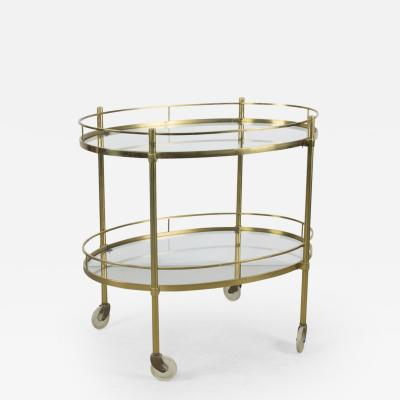 Maxwell Phillips Solid Brass Tea Trolley Attributed to Maxwell Phillips