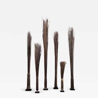 Mbole People DRC Chief Scepters Collection made of Palmtree Leaf Midribs