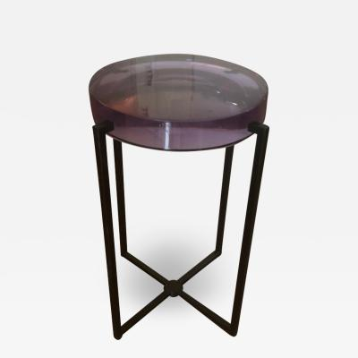 McCollin Bryan McCollin Bryan Amethyst Resin Lens Occasional Drinks or Side Table UK 2010s
