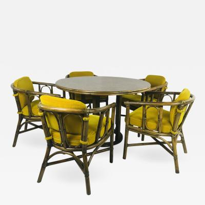McGuire Dining Set with Five Chairs and Round Table